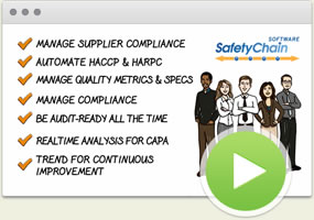 Learn how SafetyChain can help manage supplier compliance, food safety and quality management.