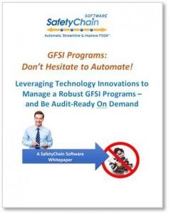 GFSI Program Automation Whitepaper