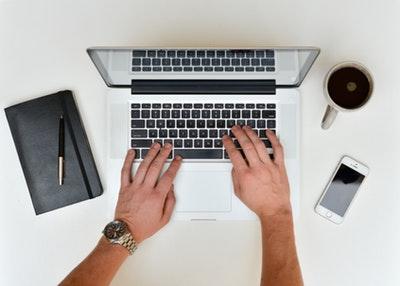 fsqa software typing laptop