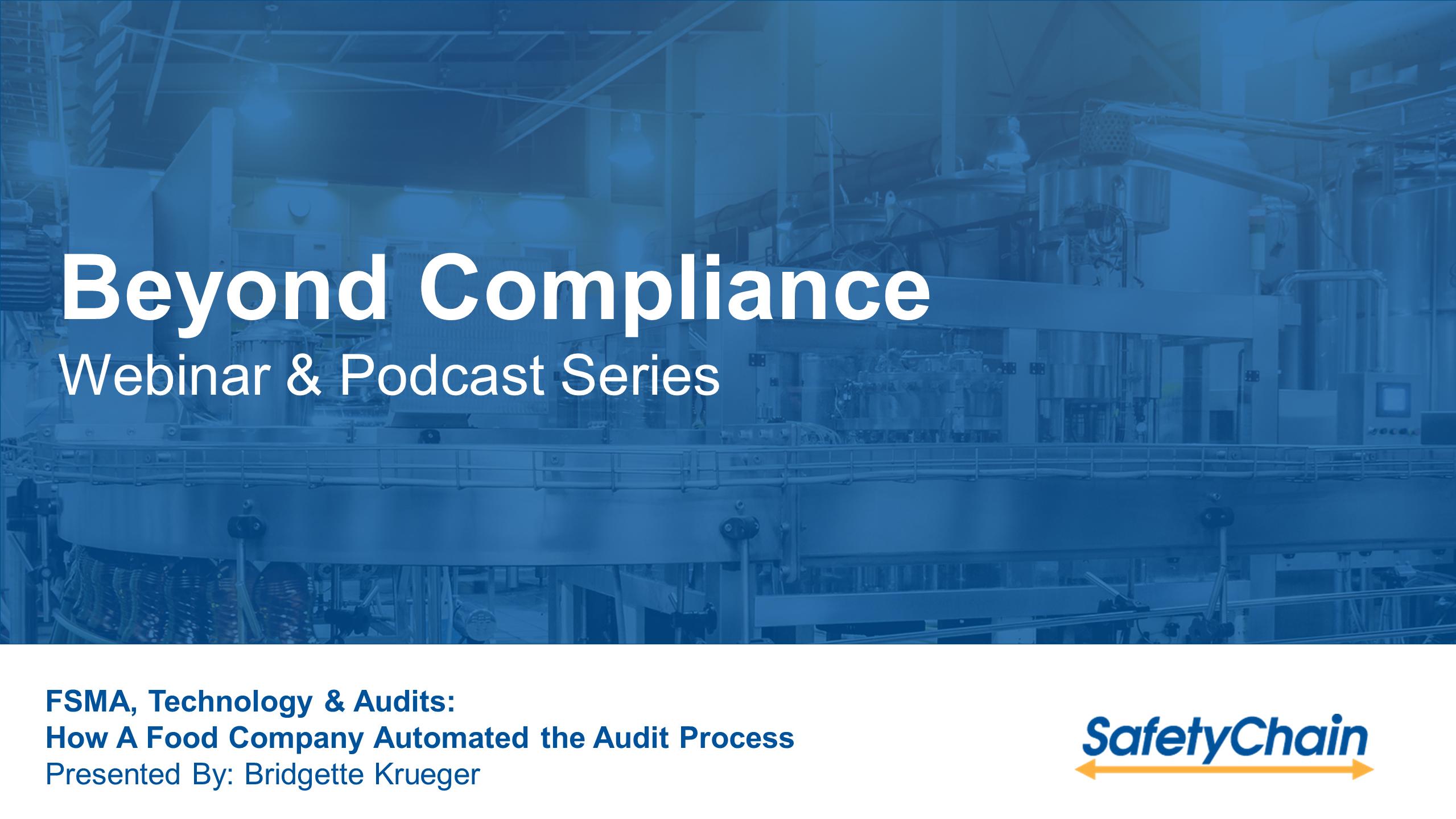 FSMA, Technology & Audits Title