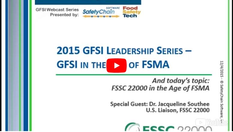 Webinar title FSSC