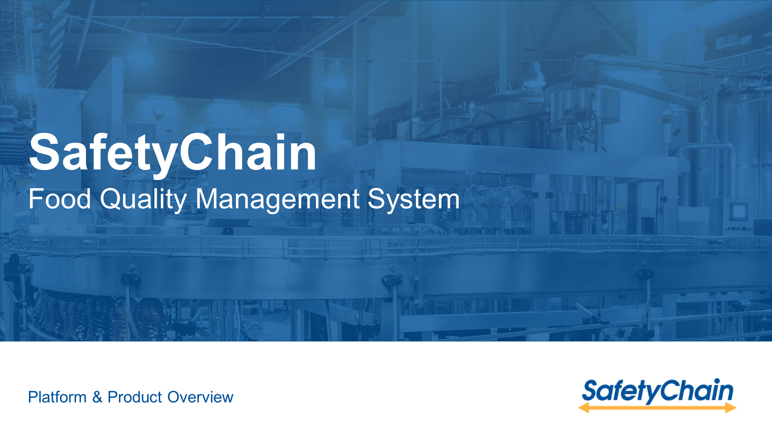 SafetyChain Food Safety Quality Management Demo