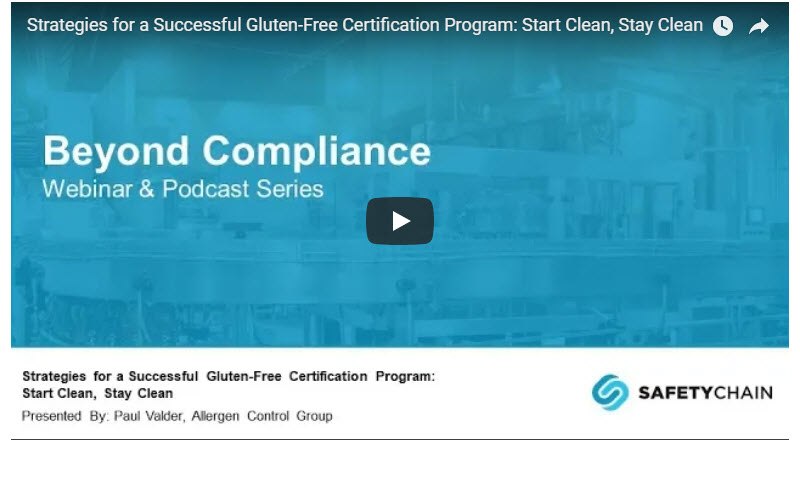 Strategies for a Successful Gluten-Free Certification Program: Start ...
