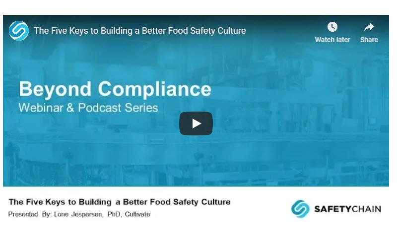 Food Safety Culture title slide
