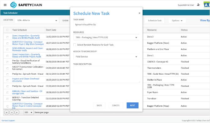 Task Scheduler SafetyChain Software